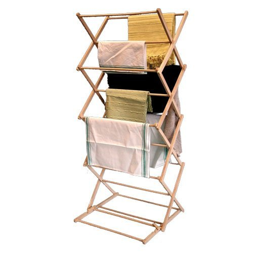 Amazing New Wooden Folding Clothes Airer