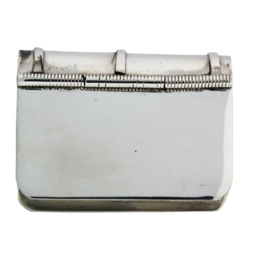 Solid Sterling Silver Hinged Book-shaped Engravable Pill Box
