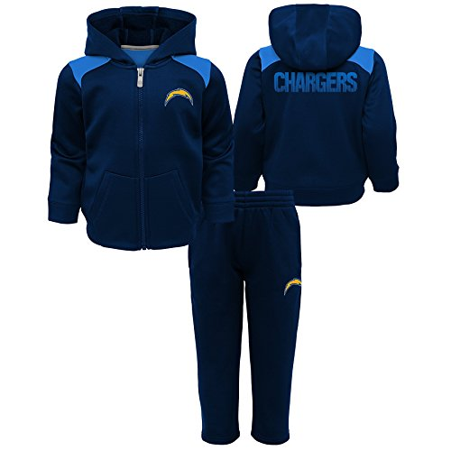 Outerstuff NFL LA Chargers Toddler Play Action Performance Fleece Set, Dark Navy, 4T ()
