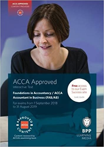 FIA Foundations of Accountant in Business FAB (ACCA F1