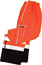 ML Kishigo RWP107 Brilliant Series High-Viz Rainwear Pant, Fits Small and Medium, Orange