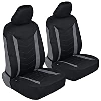 Motor Trend M284 Waterproof Neoprene Car Seat Covers-Multi-Layer Automotive Interior Protection-Chevron Stitching Black & Gray