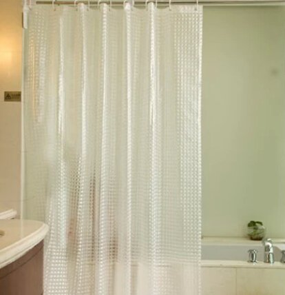 Eforgift Eco Friendly 3d Diamond Eva Shower Curtain Liner Non Mildew Decor Bathroom Curtain 72