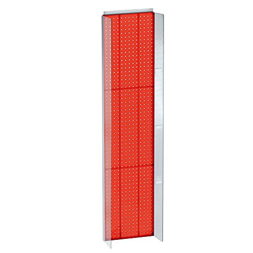 "Azar Displays 700354-RED 14"" W x 60"" H Pegboard Powerwing Di"