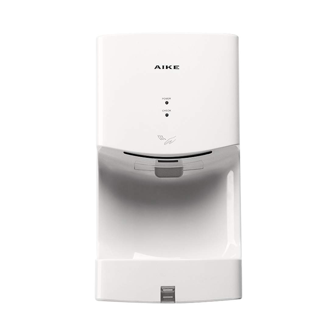 AIKE AK2630T White Automatic Jet Hand Dryer with Drain Tank 1400W, ABS Cover