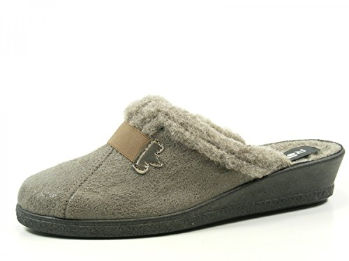 Truffes Suede Doublure Taille 38 4 2525 G Cm Environ Chaude Mules Micro Rohde Grau 17 Talon Mesdames 40 PqEUwwY
