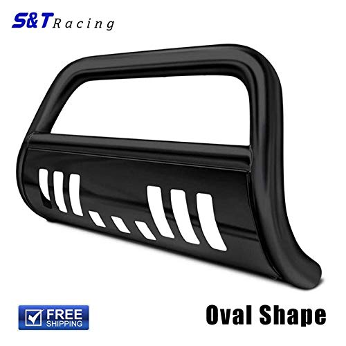 S&T Racing Black Heavy Duty Steel Bull Bar Brush Push Bumper Grill Grille Guard 03-09 4Runner/Gx470 ()