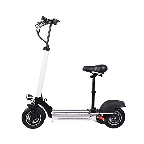 XULONG Electric Scooters Adult Foldable, 10 Inch 200 kg Max Load 50km/H, Lithium Battery 48V 23AH, 1000W Dual Motor Drive with LED Light and HD Display,100km Range