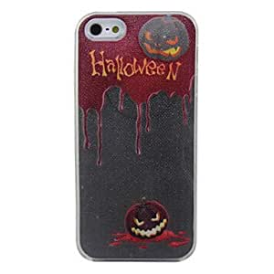 New Sense Call Flash Light LED Pumpkin Lanterns for Halloween Color Changing Case Cover for iPhone 5 --- COLOR:Black