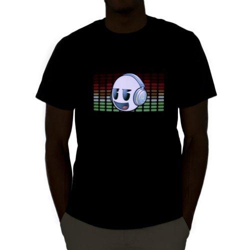 [Emazing Lights DJ Dank Head Sound Activated Light Up Rave Tee (Medium)] (Mens Sports Costume Ideas)
