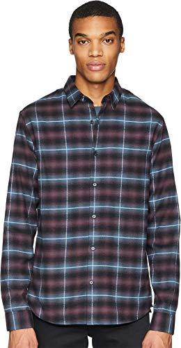 Vince Men's Shadow Plaid Long Sleeve Shirt, Multi, Large - Shadow Shirt Plaid