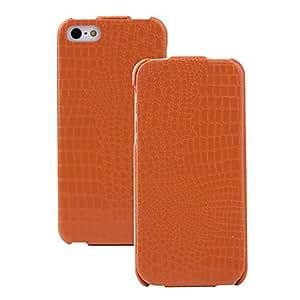 conseguir Patrón del cocodrilo del caso del tirón de la PU con la protección de microfibra para el iPhone 5/5S (colores opcionales) , Blanco