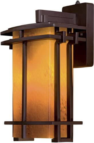 Lugarno Square Outdoor Wall Lantern in Dorian Bronze – Energy Star Size Large