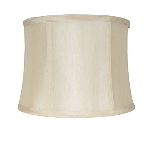 Urbanest Softback Drum Lampshade,Faux Silk, 12-inch, Cream,