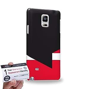 Case88 [Samsung Galaxy Note 4] 3D impresa Carcasa/Funda dura para & Tarjeta de garantía - Art Geisha Colour Blocking