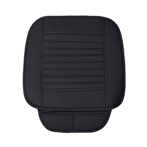 IslandseBreathable Leather Bamboo Car Seat Cover Pad Mat Auto Chair Cushion Universal (Black)