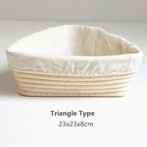 Best Quality - Storage Baskets - Rattan Oval Proofing Bread Basket with Liner Baguette Dough Pastry Banneton Brotform Bowl Baking Food Storage Baskets Organizer - by GTIN - 1 PCs ()