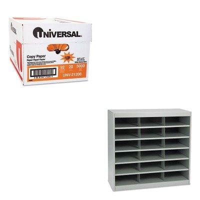 KITSAF9264GRUNV21200 - Value Kit - Safco Steel Project Center Organizer (SAF9264GR) and Universal Copy Paper (UNV21200)