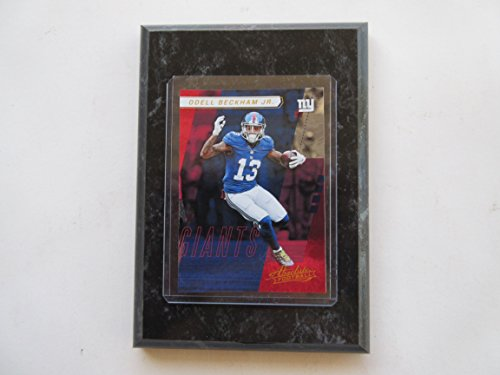 Absolute Black Marble - ODELL BECKHAM JR. NEW YORK GIANTS 2017 ABSOLUTE FOOTBALL PLAYER CARD MOUNTED ON A
