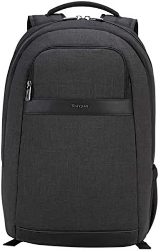 Targus CitySmart Professional Business Travel Commuter Laptop Backpack with Tablet Compartment for 15.6-Inch Laptop, Grey (TSB892)