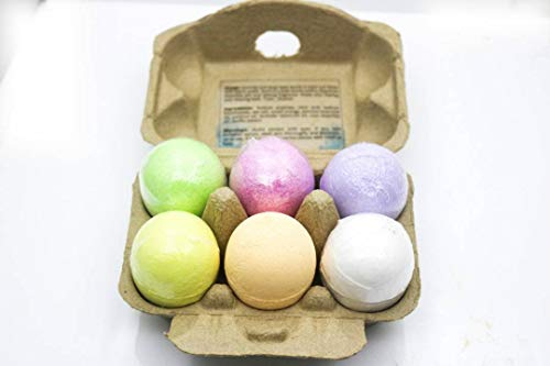 Bathe.Relax.Repeat. All Natural and Organic Moisturizing Bath Bombs in 6 Essential Oil...