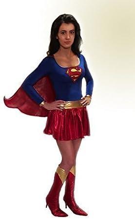 Mujer Superhéroe Superwoman Supergirl Años 80s Hen Disfraz Años 70 ...