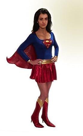 Femmes Super héros Superwoman Supergirl Années 80 Enterrement vie jeune  fille Costume Déguisement Années 70 Des