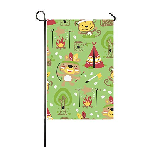 YUMOING Home Decorative Outdoor Double Sided Archery Sports Competition Summer Garden Flag House Yard Flag Garden Yard Decorations Seasonal Welcome Outdoor Flag 12x18in Spring Summer Gift