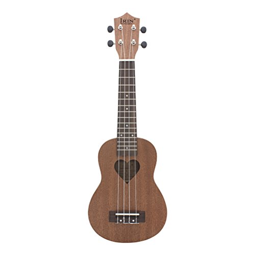 SUPVOX 21 Inch Ukulele Small Guitar 4 Strings Musical Instrument for Kids Children Students Adults Beginners Educational Toys (Heart)