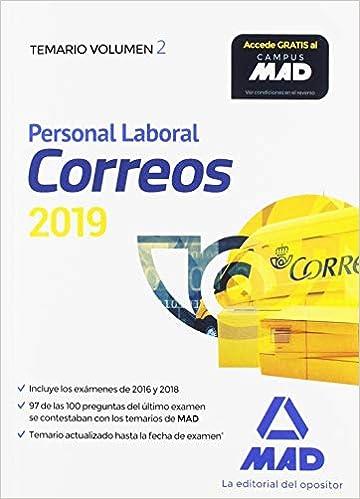 Personal Laboral de Correos y Telégrafos. Temario Volumen 2: Amazon.es: Guillén Gil, Luis Ignacio, FORUM DE CATALUNYA, S.R.L.: Libros