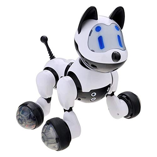 HstoreMultifunctional Intelligent Voice Control Induction Robot Dog Voice Recognition Electronic Toy Dog Puppy Music Shine Action Toy US Stock