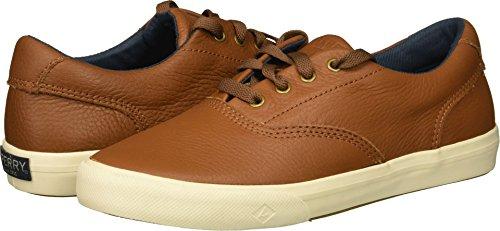 Tan Leather Boat - SPERRY Boys' Striper II Leather Boat Shoe, tan, 6 Medium US Big Kid