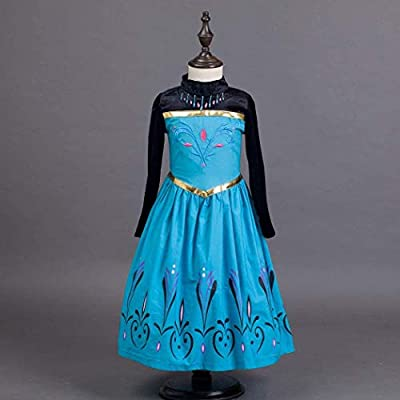 Vogue Elsa Coronation Dress Costume Tiara and Magic Wand Set: Clothing