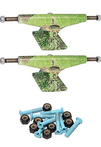 Krux Trucks 標準 5.35インチ スケートボード トラック 1インチ ライトブルー 取り付け金具付き   B07FDHJJ3N