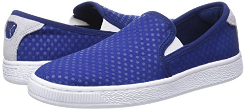 twilight Femme Basses Bleu Puma halogen 01 Denim Sneakers On Slip Wn's Basket Blue Blue BwqpzB6