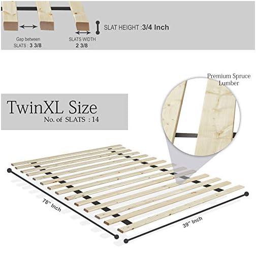 Mattress Solution, 1.5-inch Standard Mattress Support Wooden Bunkie Board/Slats
