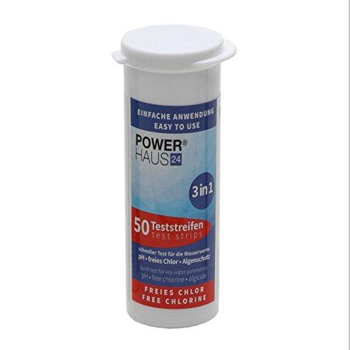 50 Teststreifen für Chlor / pH Wert / Algenschutz - Teststäbchen - Teststrips für Pool und Whirlpool