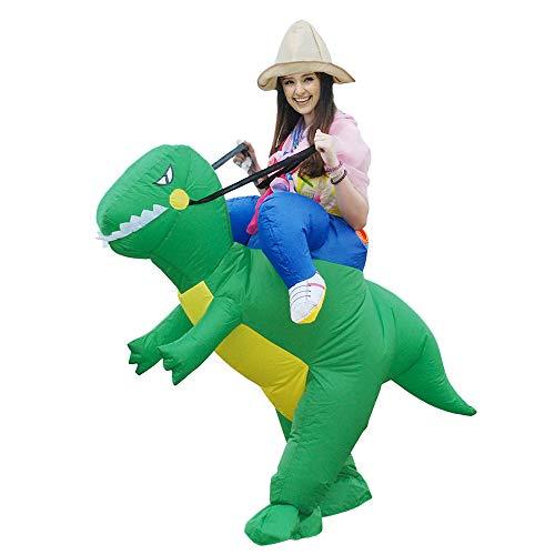 (Kooy Inflatable Dinosaur Unicorn Cowboy Costume Halloween Costume Inflatable Costumes for Adults/Child (Green)