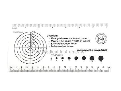 Amazon.com: EMI Medical regla con Herida de medición y ...