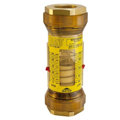 - Hedland Flow Meters (Badger Meter Inc) H615-050-R - Flow Rate Hydraulic Flow Meter - 50 gpm Max Flow Rate, 1-1/2 NPTF in Port Size