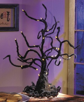 Spooky Wire Ghost Tree with LED Lights Halloween -