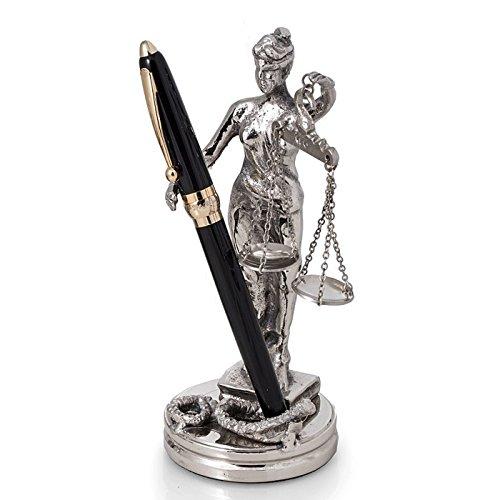 KensingtonRow Home Collection Desk Accessories - Lady Justice Pen Holder - Pen -