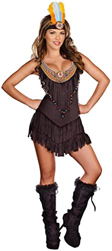 Dreamgirl Women's Reservation Royalty Dress, Black, Medium