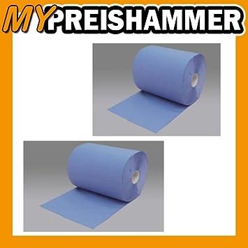 Putzrolle Putztuchrolle blau 3-lagig 1000 Abrisse Putzpapier Putztücher