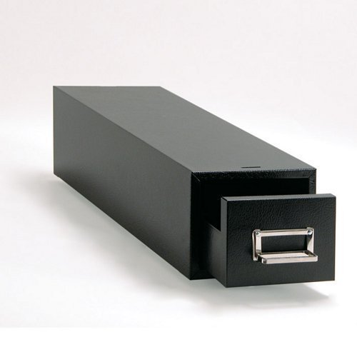 (Buddy Products 1 Drawer 5 x 8 Inch Card File, Steel, 16 x 7.125 x 9.5 Inches, Black (1358-4) by Buddy Products)
