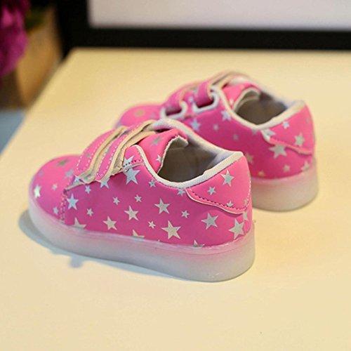 zapatos bebe niña verano baratos Switchali infantil moda LED luminoso princesa zapatos bebe Zapatillas con suela zapatos bebe niña blanco Otoño zapatos niña vestir Rosado