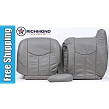 2004 GMC Sierra 2500HD 2500 HD SLT SLE Driver Side Complete Replacement Leather Seat Covers, Gray