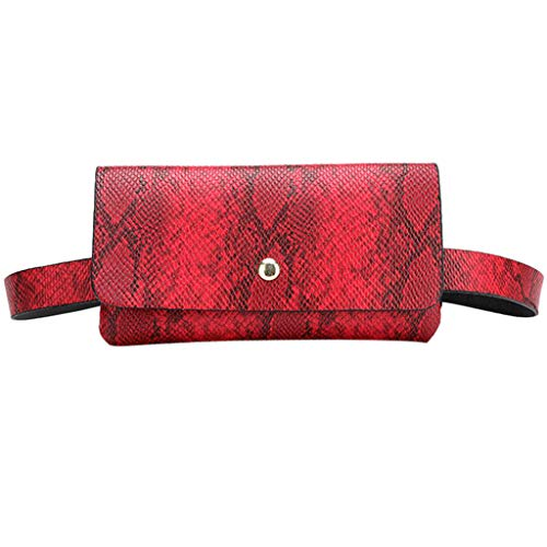 Fauean Sexy Women'S Snake Waist Bag Chain Single Shoulder Diagonal Bag Sports Chest Bag Travel Bag