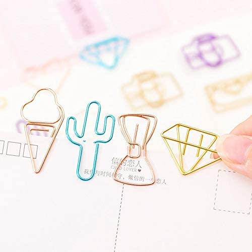 Panel Screws 10 pcs//pack cute Cactus star Ice Cream Mini Paper Clips Kawaii Stationery Metal Clear Binder Clips Photos Tickets Notes Letter Nails Color : Camera Fasteners