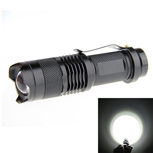 JOYLIT Pack 2pcs White Mini Focus Tactical Waterproof Led Flashlight lantern Cree Q5 Chip